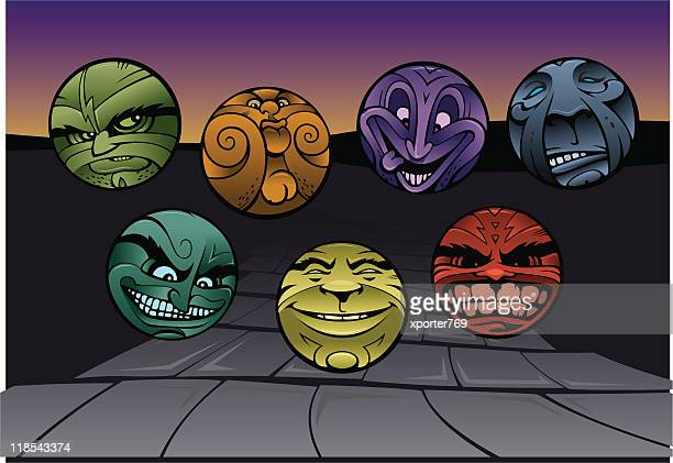 the road to demise: seven deadly sins - the grass is always greener stock illustrations, clip art, cartoons, & icons