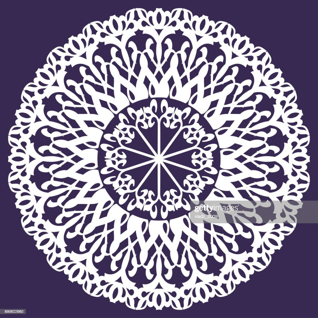 the round element of the ornament on the ultra-violet background