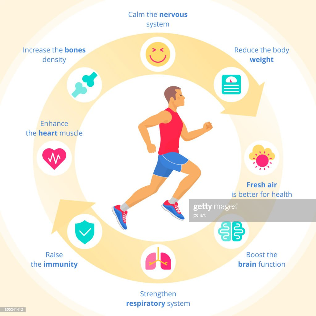 The running man with sport and internal organs icon set vector art the running man with sport and internal organs icon set ccuart Images