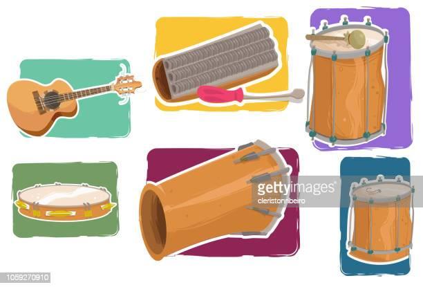 the samba instruments - samba stock illustrations