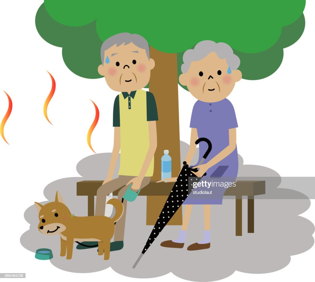 The senior citizen couple who takes a heat exhaustion measure