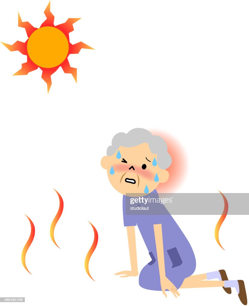 The senior citizen who seems to have heat exhaustion