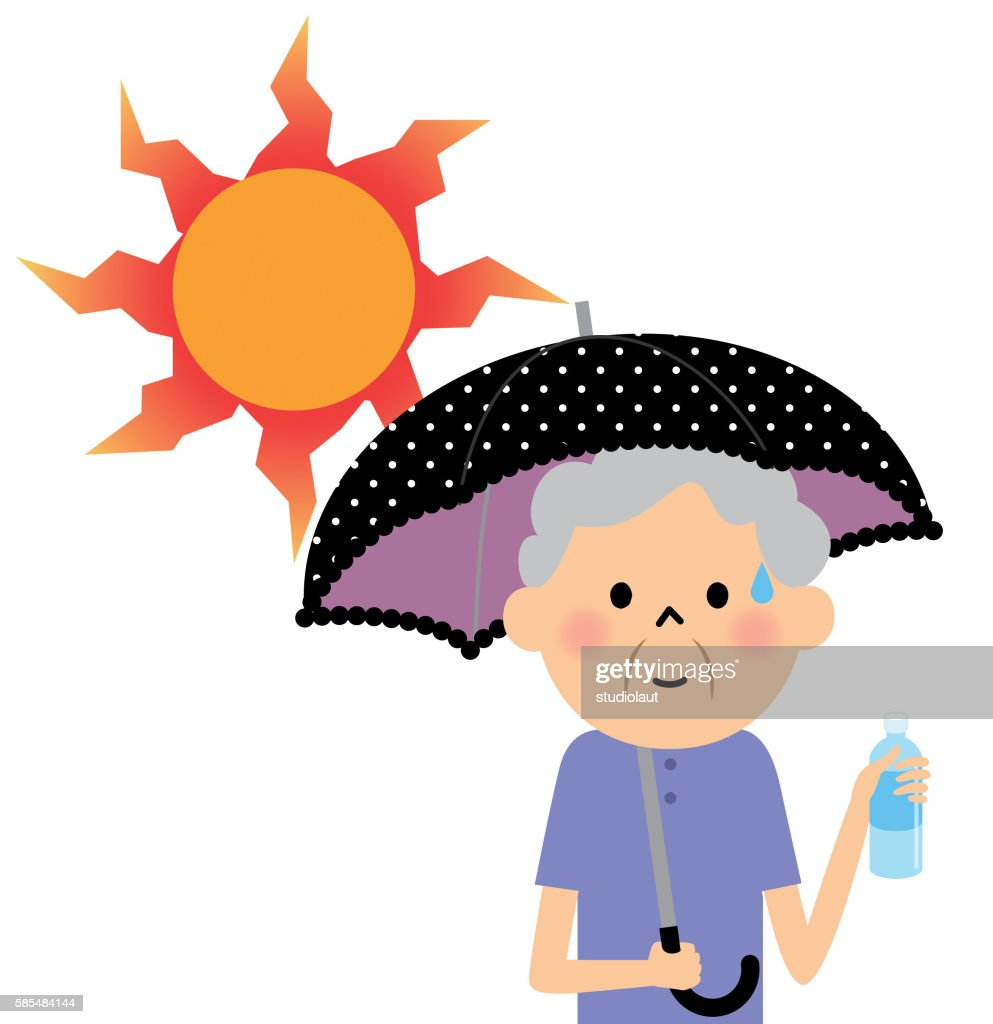 The senior citizen who takes a heat exhaustion measure