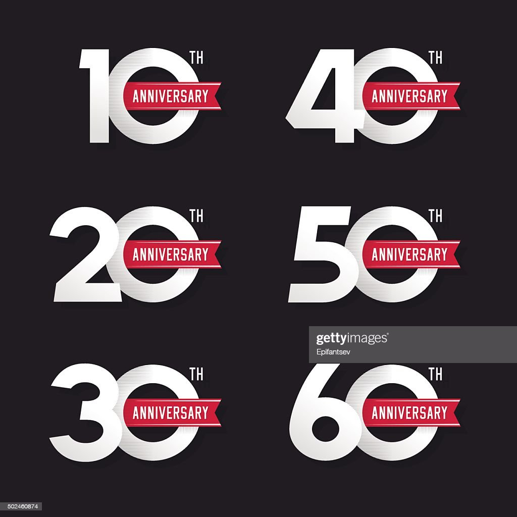 The set of anniversary signs