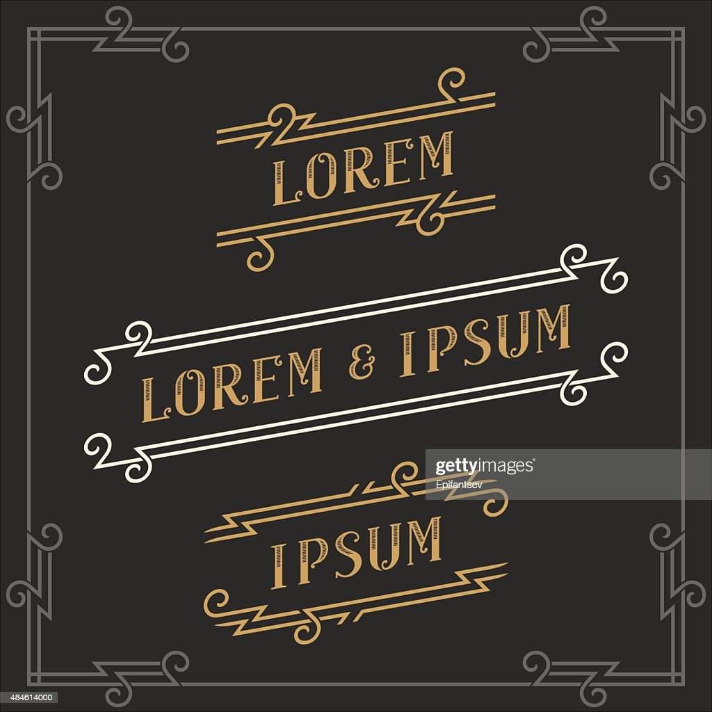 The set of elegant vintage emblems templates.