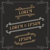 The set of elegant vintage emblems templates.