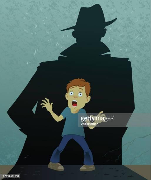 illustrations, cliparts, dessins animés et icônes de the shadow of fear - voleur