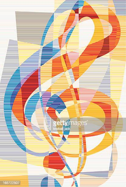 die stenografie des emotion reprise - treble clef stock-grafiken, -clipart, -cartoons und -symbole