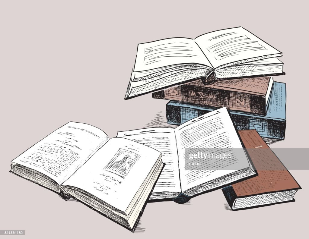 The sketches of the old printed books