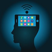 The smartphone has become a part of a human head has replaced consciousness