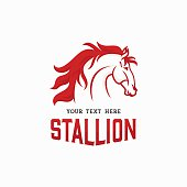 The Stallion Logo concept. Horse Head Icon