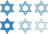 The Star of David, six detailed vector designs