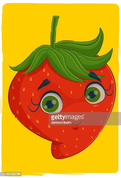 the strawberry - morango stock illustrations