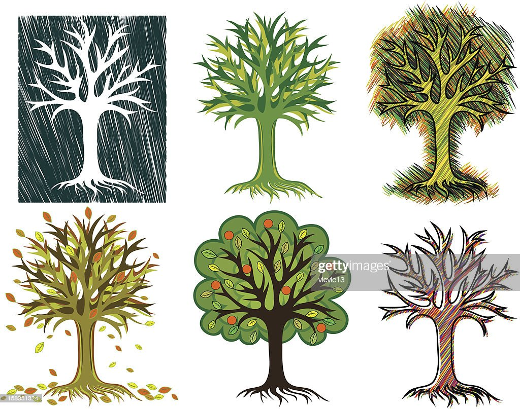 the stylized creative trees