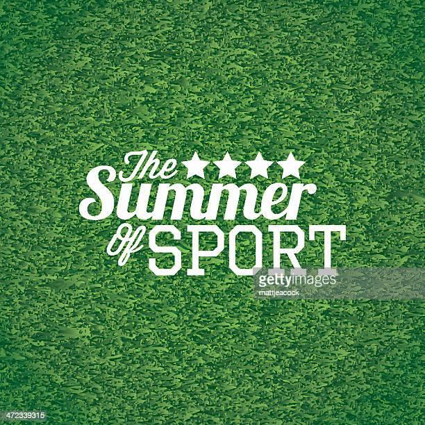 スポーツの夏 - アメリカンフットボール場点のイラスト素材/クリップアート素材/マンガ素材/アイコン素材