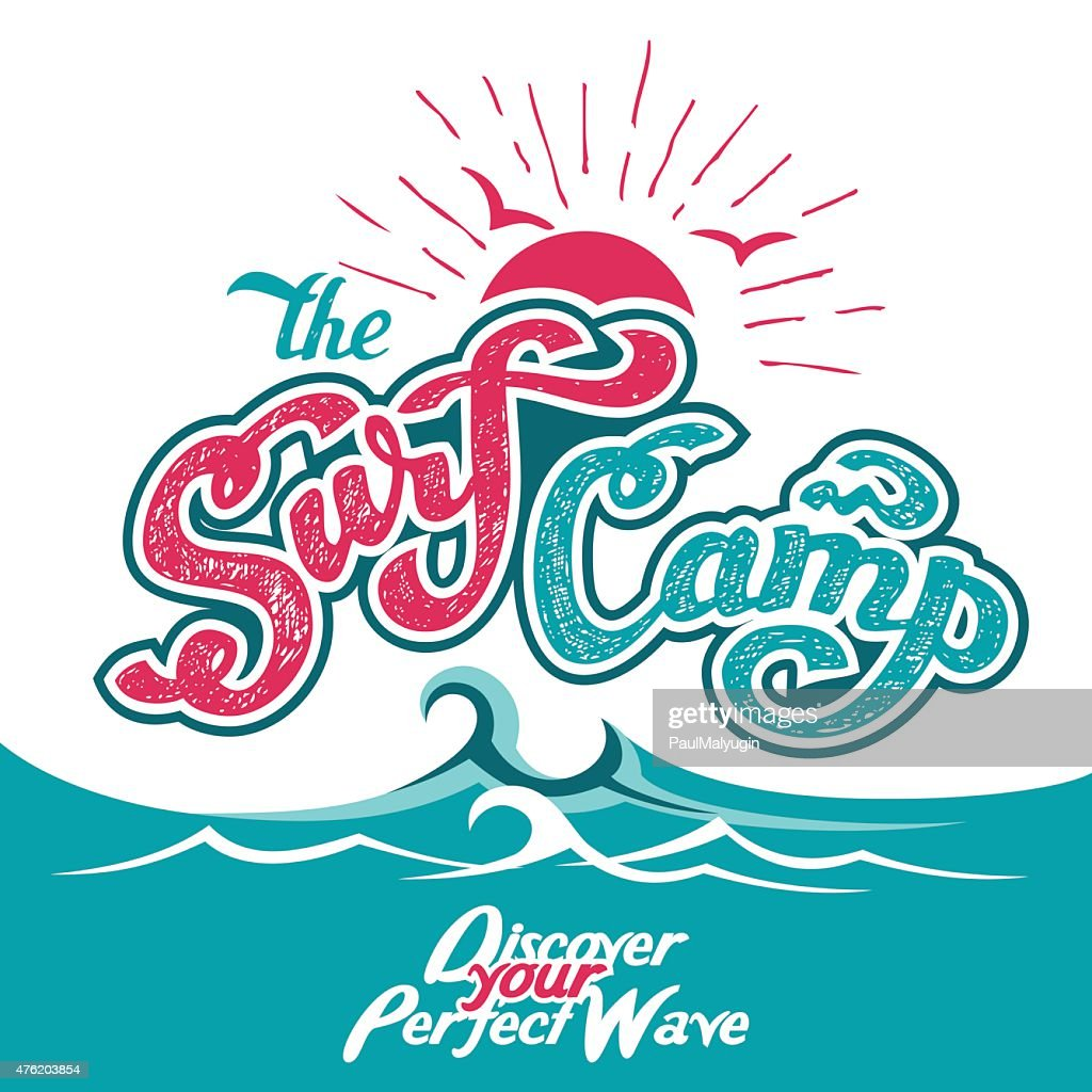 The Surf Camp hand lettering