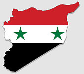 The Syria Map, National Flag
