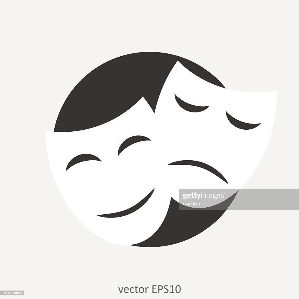 The theater illustration. Theatre masks.