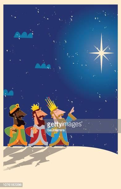 ilustraciones, imágenes clip art, dibujos animados e iconos de stock de los tres reyes magos / melchor gaspar y baltasar - lostresreyesmagos