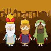 The three wisemen cartoon design