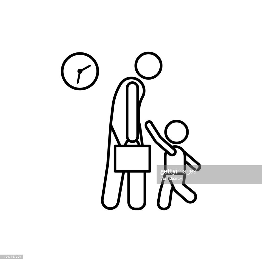 The tired father comes from work and the child runs towards him, but the father has worked hard and is tired. People have to work hard to grow their children.