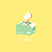 the toaster with bread