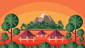 the tropical island