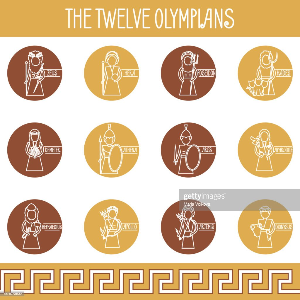 The Twelve Olympians icons set