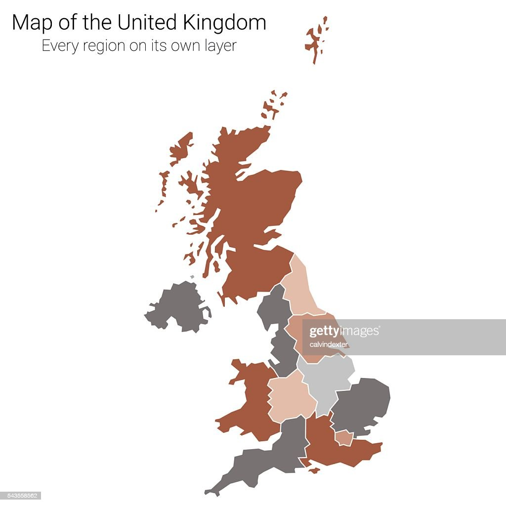 The United Kingdom map color edition