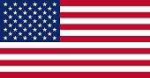 The United States of America Flag, vector illustration