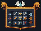 The user interface for the game