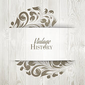The vintage history card