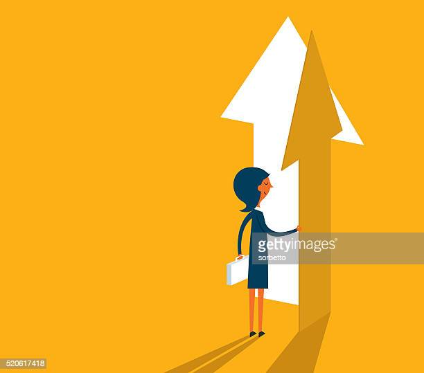 the way forward - leadership stock illustrations