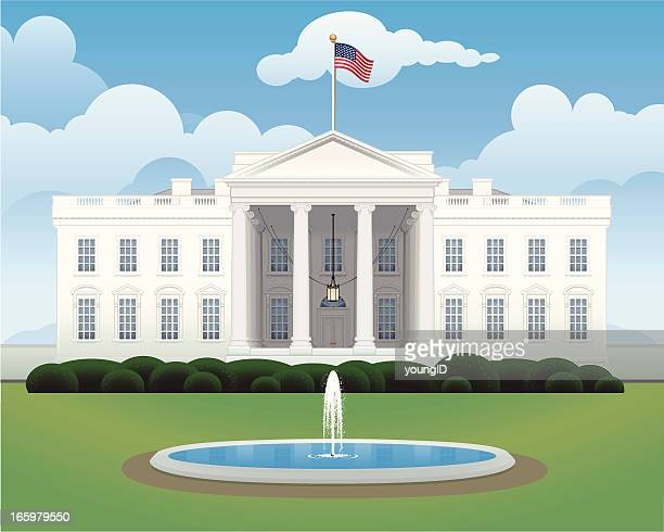 the white house - president stock illustrations, clip art, cartoons, & icons