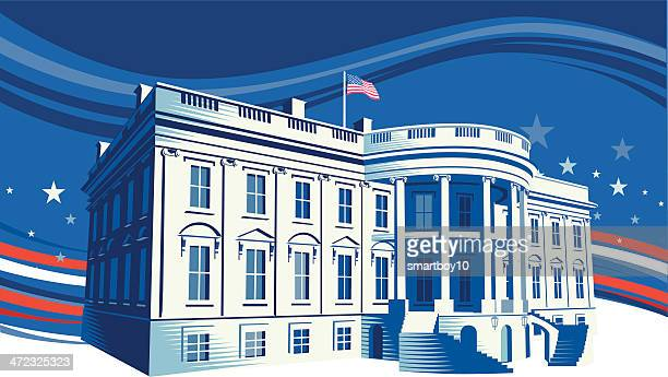 the white house - election stock illustrations