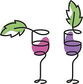 The wineglass color icon