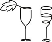 The wineglass monochrome icon