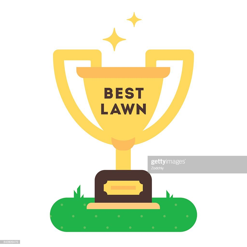The winner cup for best green grass lawn producer.