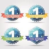 the winner prize label polygon