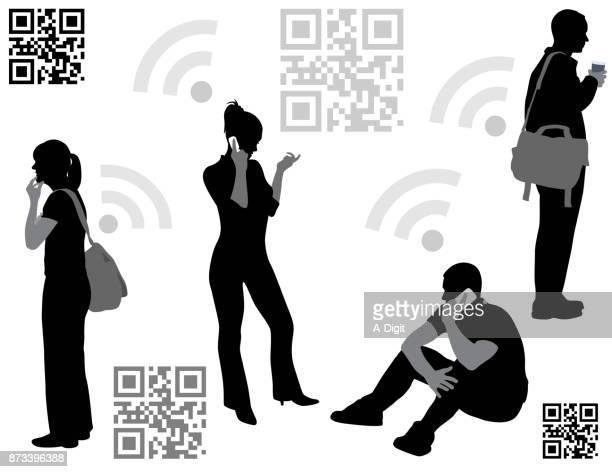 the wireless world - naughty america stock illustrations, clip art, cartoons, & icons