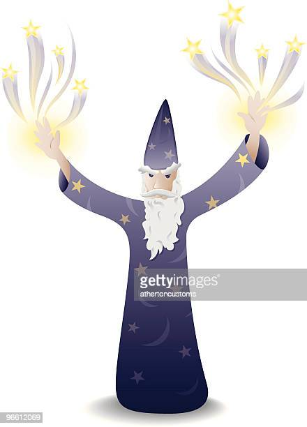 the wizard - wizard stock illustrations, clip art, cartoons, & icons
