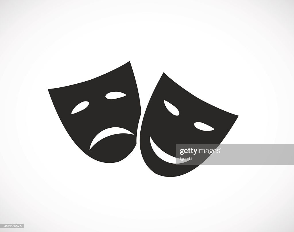 theater human mask icon