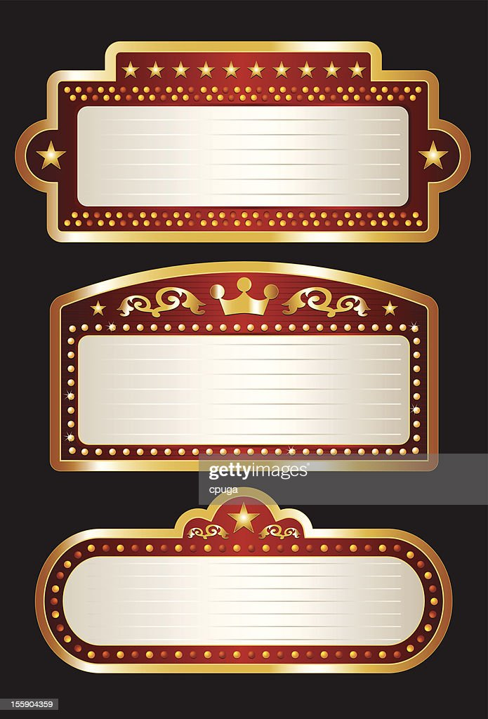 Theater Marquee Collection : stock illustration