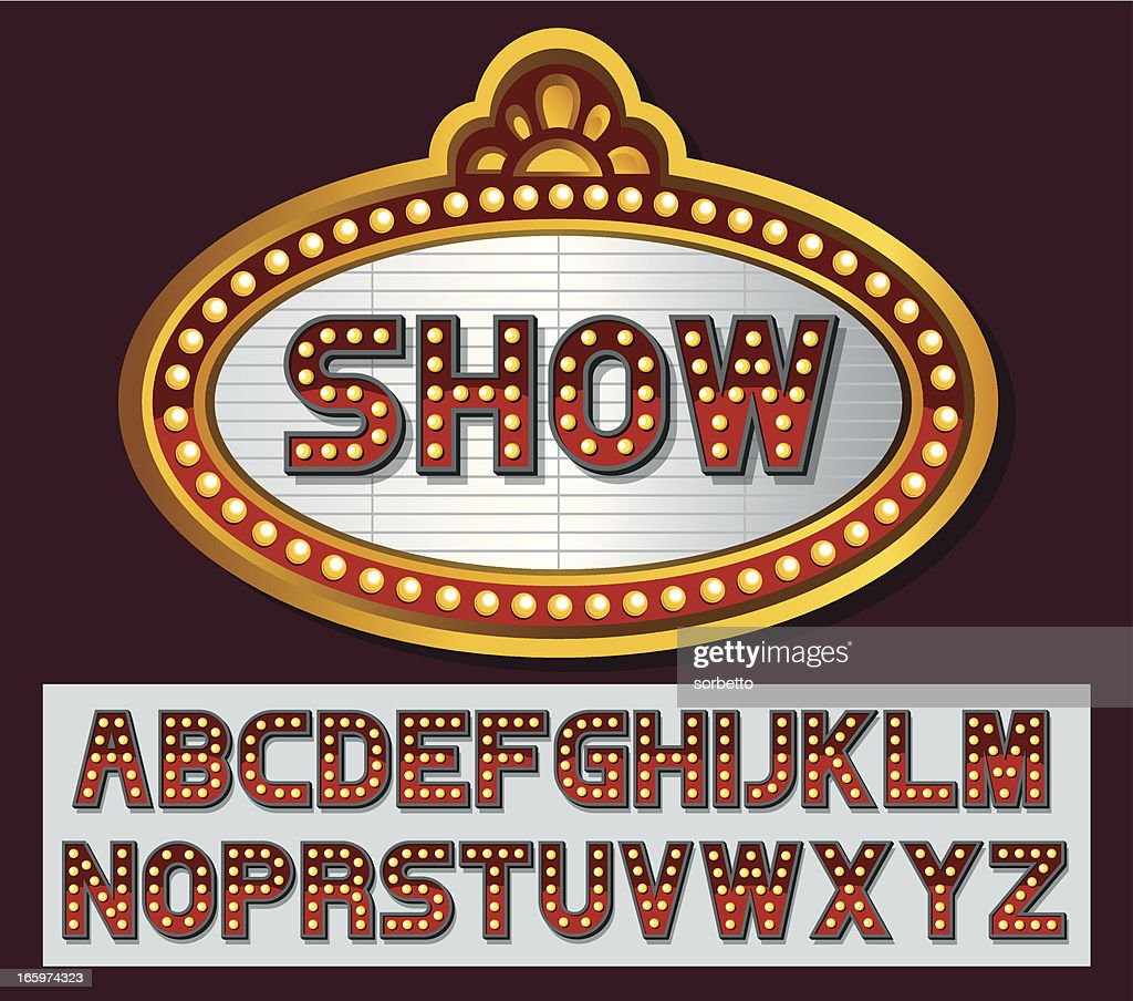 Theater marquee font series