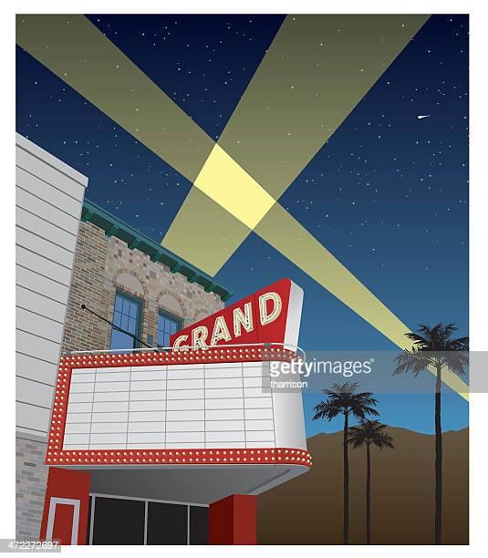 Anzeigetafel für Kino oder Theater nostalgische