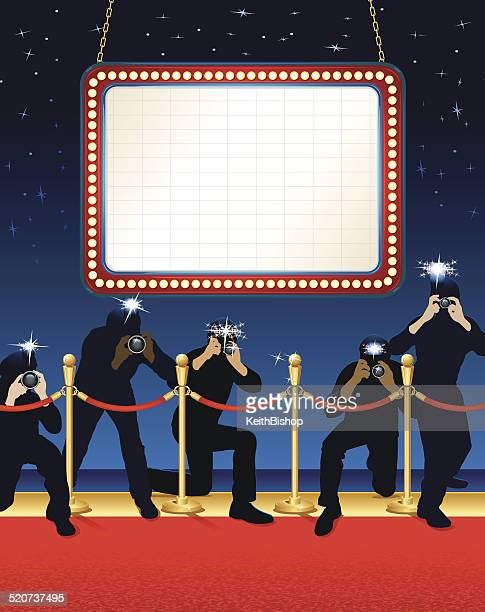 Theater Marquee Paparazzi Background
