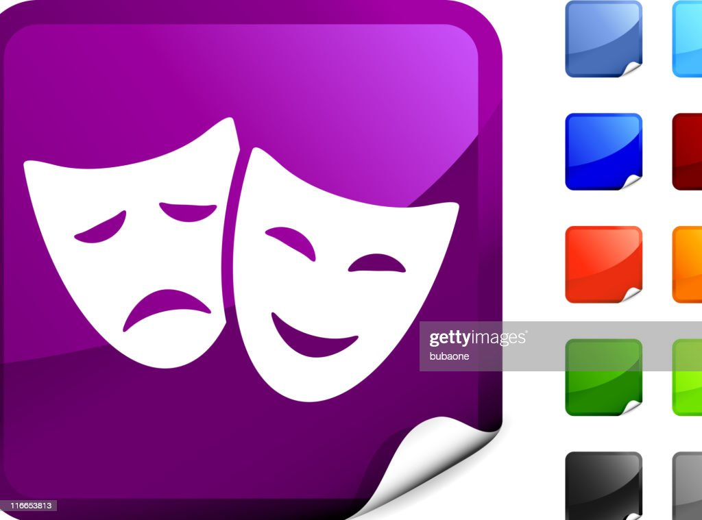 theater mask internet royalty free vector art