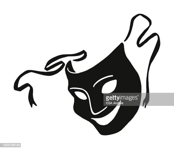 theater mask - actor stock illustrations