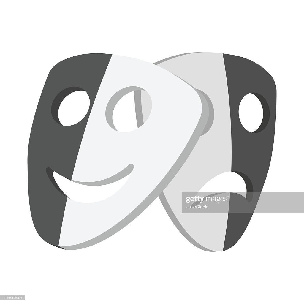 Theater masks cartoon icons