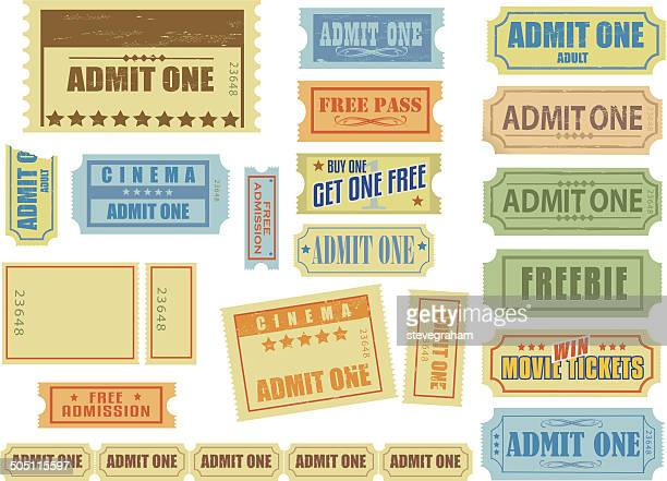 theatre and cinema tickets - goodie bag stock illustrations, clip art, cartoons, & icons